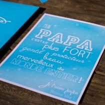 fête des pères carte printable