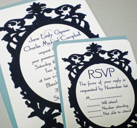 faire part mariage baroque ivoire ou blanc noir volutes Mademoiselle Cereza blog mariage