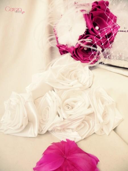 fleur de plumes & fleurs satin bouquet de mariée éternel Laetitia cereza deco 2
