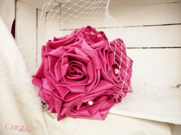bouquet de mariee bijou rose fuchsia cereza deco