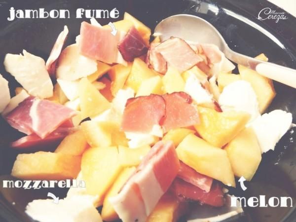 idée buffet froid mariage d'été recette melon jambon fumé pignon cereza 2