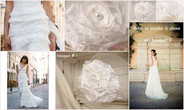 mariage dentelle blanc argent robe bohème cymbeline bouquet coordonné cereza deco 2b