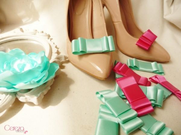 mariage vert mint rose fuchsia cereza deco bijoux de chaussure 1