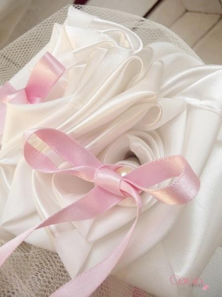 porte alliance mariage ivoire rose personnalisé cereza deco 2