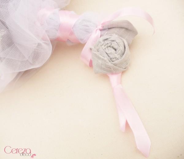 boutonniere mariage original gris rose noeud chic cravate 2