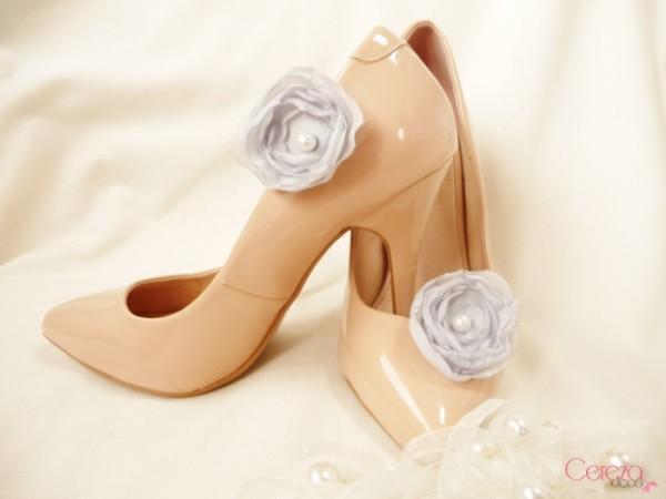 bijou de chaussures mariage clip gris perle customiser escarpins nude cereza deco 1