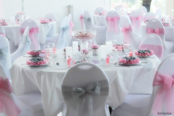 real wedding vrai mariage rose gris ivoire deco de table Mademoiselle Cereza blog mariage
