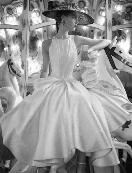 robe de mariée esprit rétro & voilette