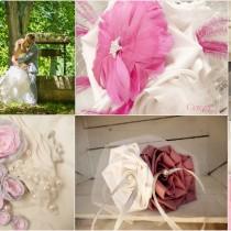 bouquet de mariee tissu original plumes bijou personnalise sur-mesure Mademoiselle cereza deco