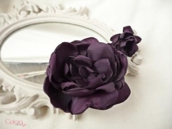 bijou de cheveux floral mariage personnalisé coiffure prune cereza deco 1b