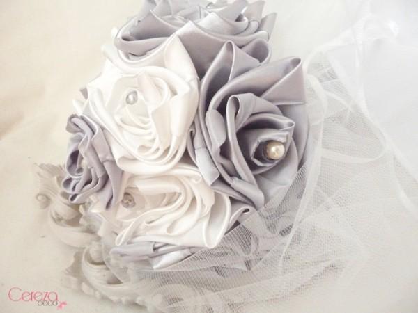 bouquet de mariee original ivoire gris tissu cereza deco clemence 4