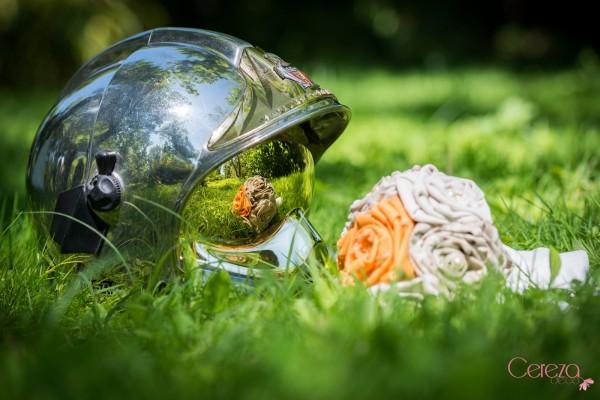 bouquet mariee tissu original mariage orange beige ivoire sur mesure Mademoiselle Cereza deco 2r
