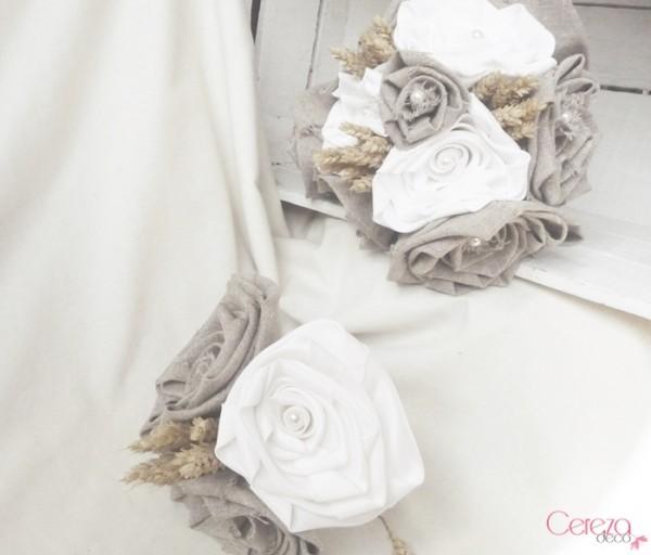 bouquet mariage champetre chic lin beige satin blanc epi ble cereza deco 4d
