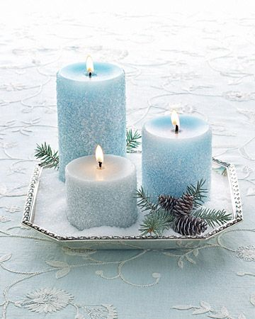 idée déco table mariage bleu ciel ivoire blanc bougie original chic 2