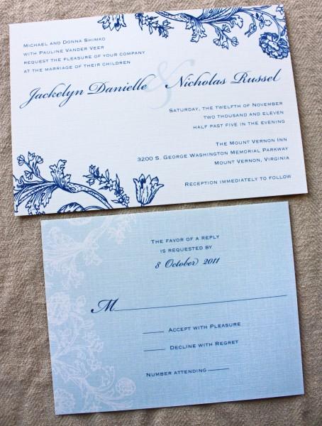 idée faire part mariage ivoire bleu blanc arabesque romantique pinterest