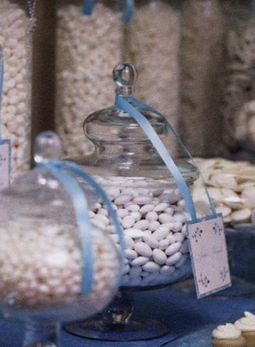 mariage bleu ciel ivoire bonbonnière dragées sweet table candy bar  planche inspiration originale save-on-craftscom