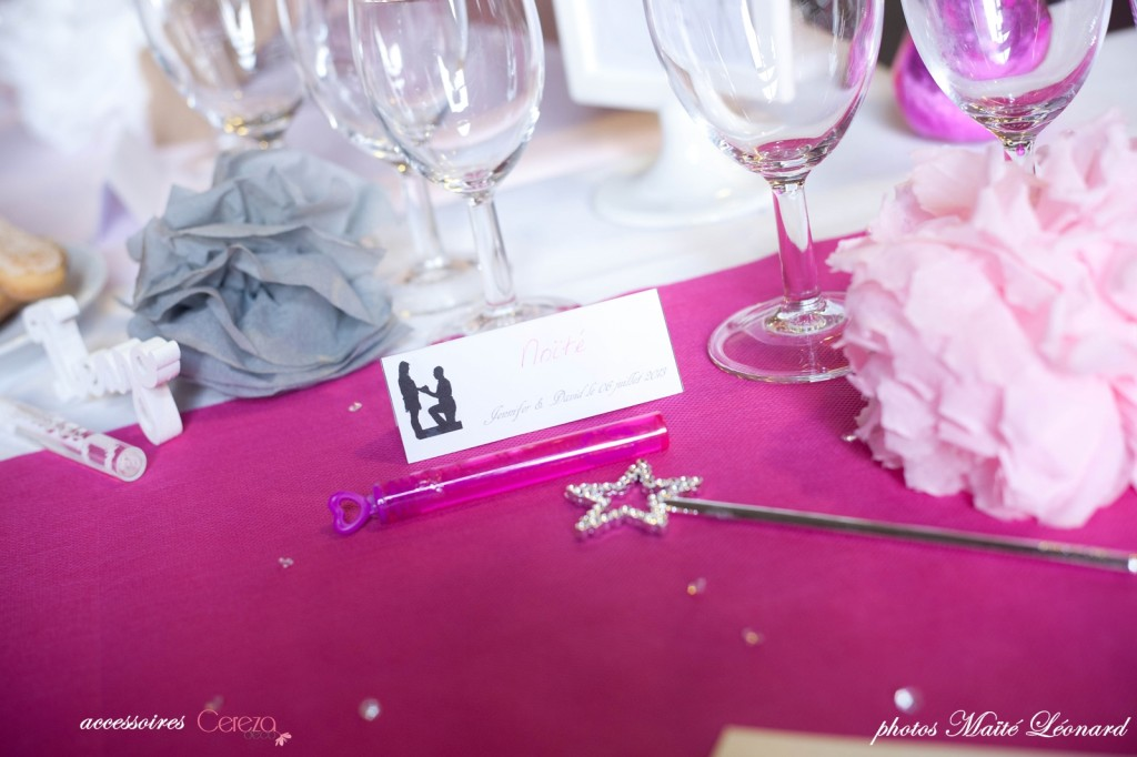 mariage romantique feerique originaldeco rose gris déco table blanc fuchsia Mademoiselle Cereza blog mariage