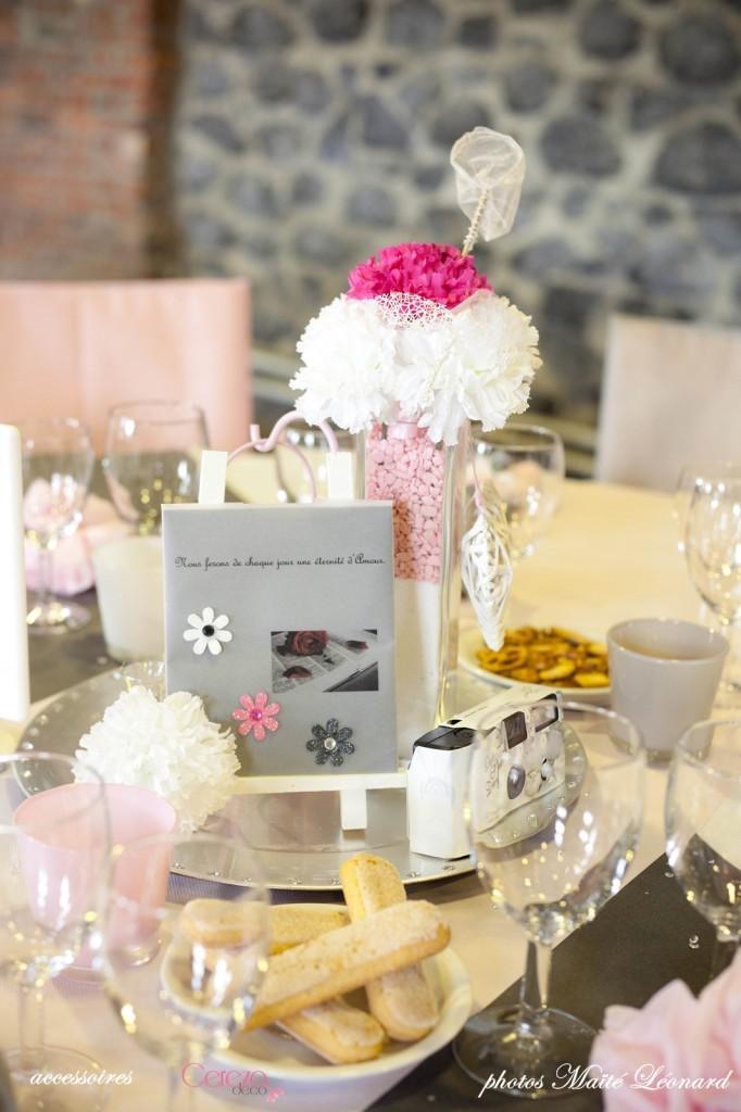 mariage romantique feerique original deco rose gris déco table blanc fuchsia 3 Mademoiselle Cereza blog mariage