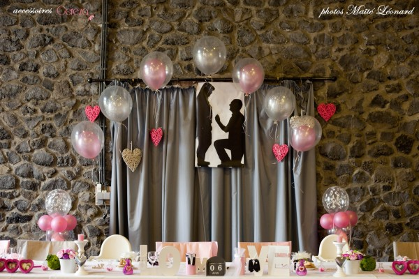mariage romantique feerique original deco rose gris déco table blanc fuchsia Mademoiselle Cereza blog mariage 4