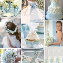 mariage ivoire bleu ciel planche inspiration deco chaussure robe wedding cake Mademoiselle Cereza blog mariage