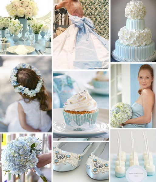 mariage ivoire bleu ciel planche inspiration déco chaussure robe wedding cake tulleandchantillycom