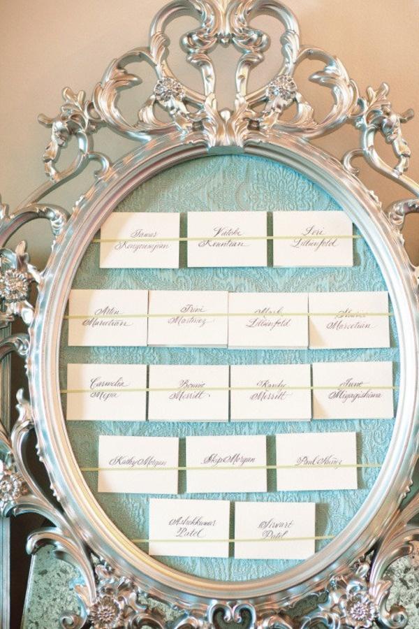 planche inspiration mariage ivoire bleu ciel déco plan de table baroque  original stylemepretty com