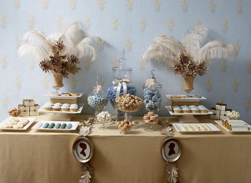sweet table candy bar mariage bleu ciel ivoire planche inspiration originale onewedcom