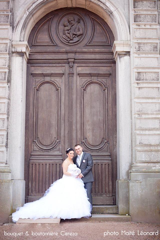 mariage en Belgique bouquet de mariee original chic rose gris blanc Mademoiselle cereza deco