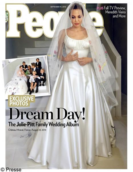 mariage angélina jolie brad pitt la robe & le voile