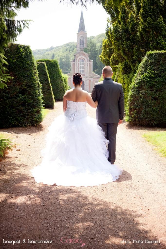 mariage romantique bouquet mariee original cereza deco rose gris blanc 5