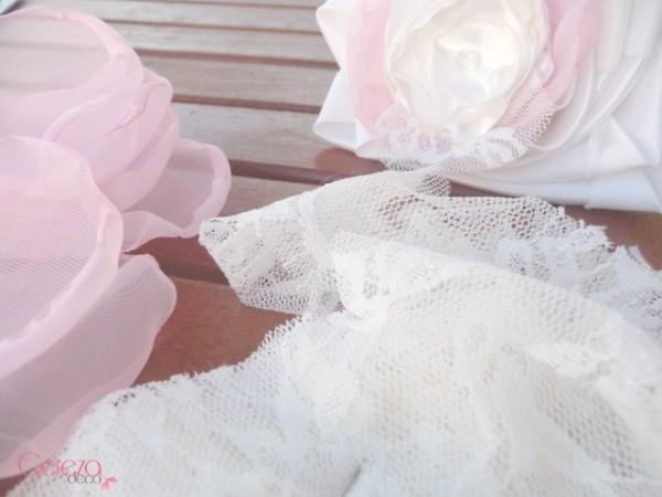 création mariage dentelle ivoire rose cristal bijou mariage cereza