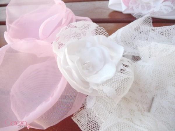 fleur dentelle mariage chic ivoire rose personnalisable bijoux cereza
