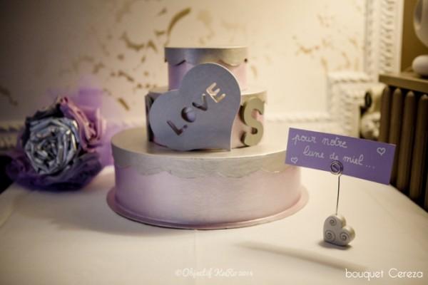 mariage argent parme gris bouquet mariee original  cereza deco 1