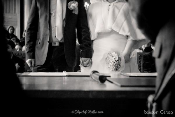 mariage d'hiver argent parme gris bouquet mariée original deco Mademoiselle Cereza blog mariage