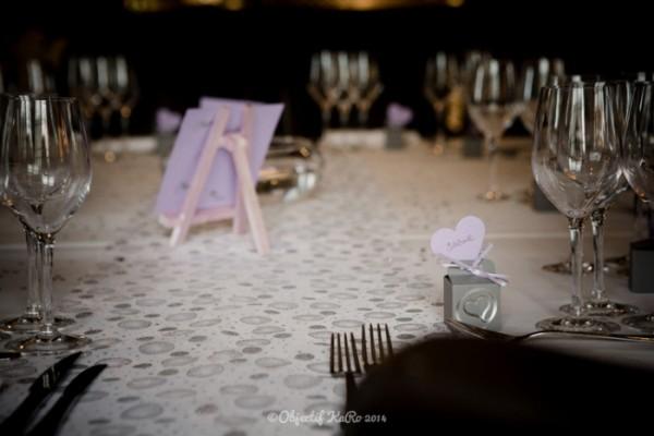 deco table mariage hiver argent parme gris deco idees déco table Mademoiselle Cereza blog mariage