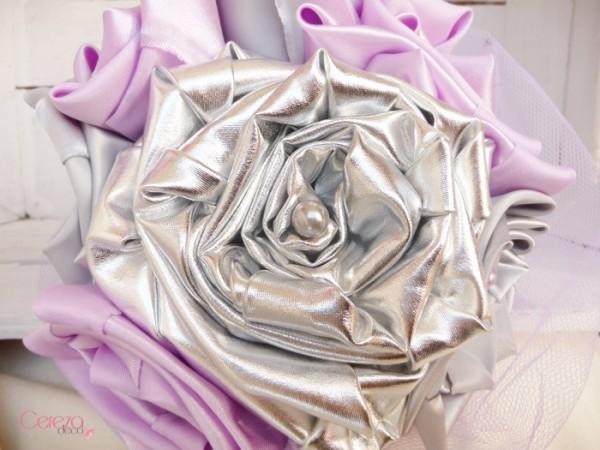 mariage parme argent gris mauboussin bouquet mariee tissu bijou original cereza deco 5