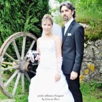 mariage noir blanc porte alliance mariage baroque fleur noir blanc personnalise sur mesure cereza deco