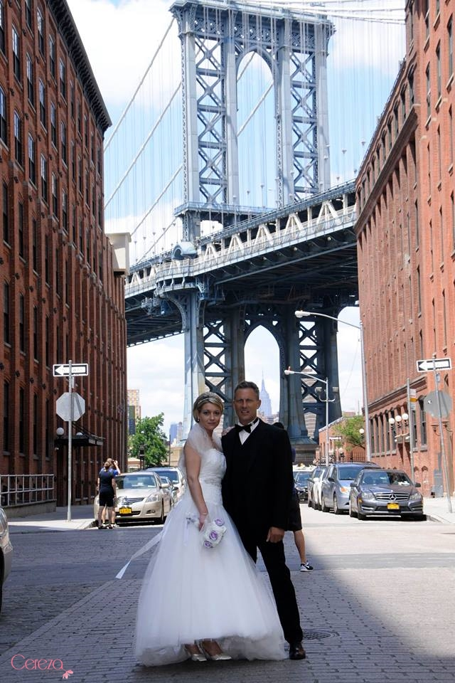 se marier a new york bouquet de mariee tissu bijou dentelle strass cristal Mademoiselle cereza 1
