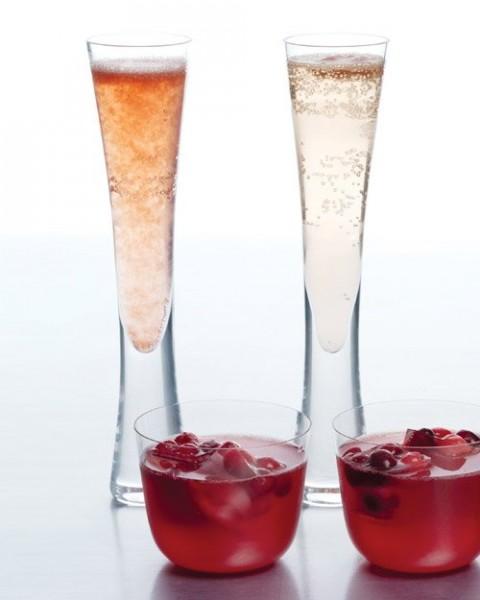 cocktail champagne sorbet idée original noel