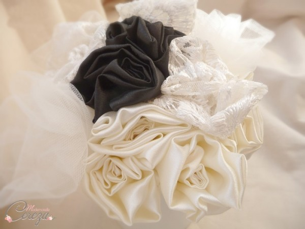 bouquet de mariee original sur-mesure creation personnalisee  bouquet tissu Mademoiselle Cereza