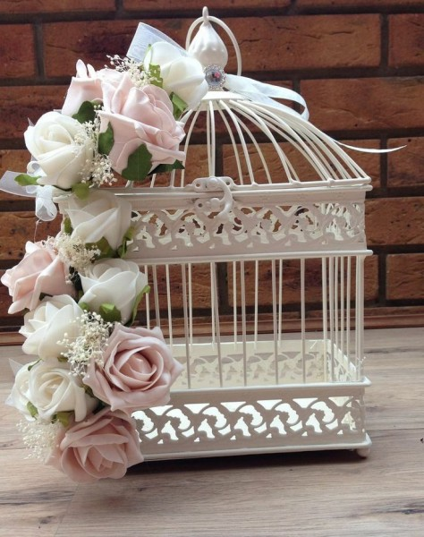 cage oiseau mariage ivoire rose idee deco table centre table Mademoiselle Cereza blog mariage