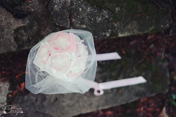 mariage rose ivoire dentelle bouquet mariee bijou atypique original cereza
