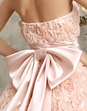 robe de mariee coloree rose noeud florale zelebcouk Mademoiselle Cereza blog mariage