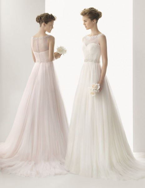 robe de mariee ivoire rose dentelle chic romantique raffine rose clara carnet inspiration Mademoiselle Cereza blog mariage
