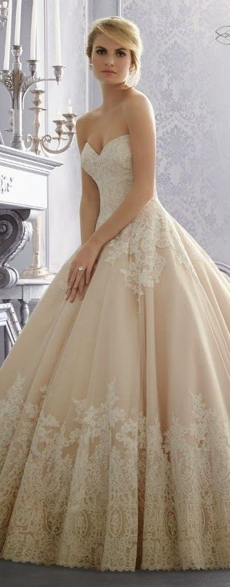 robe mariee dentelle rose ivoire chic madeline gardner Mademoiselle Cereza blog mariage