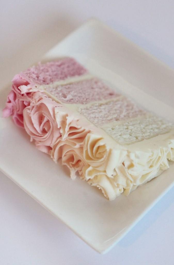 wedding cake ivoire rose degrade chic Mademoiselle Cereza blog mariage