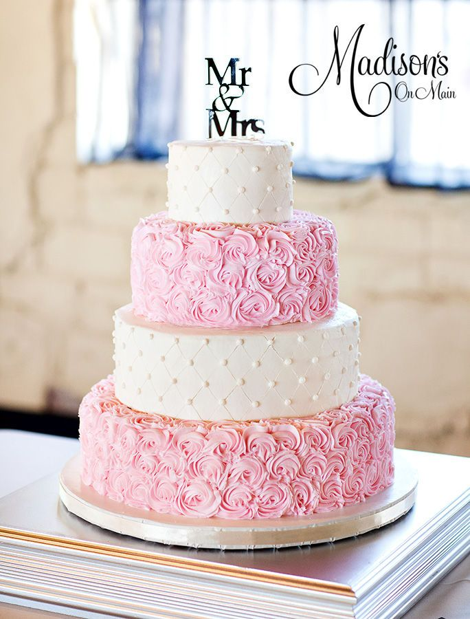 wedding cake mariage  ivoire rose floral chic Mademoiselle Cereza blog mariage