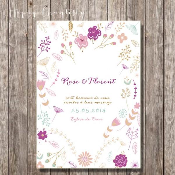 faire-part_naissance_mariage_moderne_fleurs_nature_scandinave_dessin_main Mademoiselle Cereza blog mariage