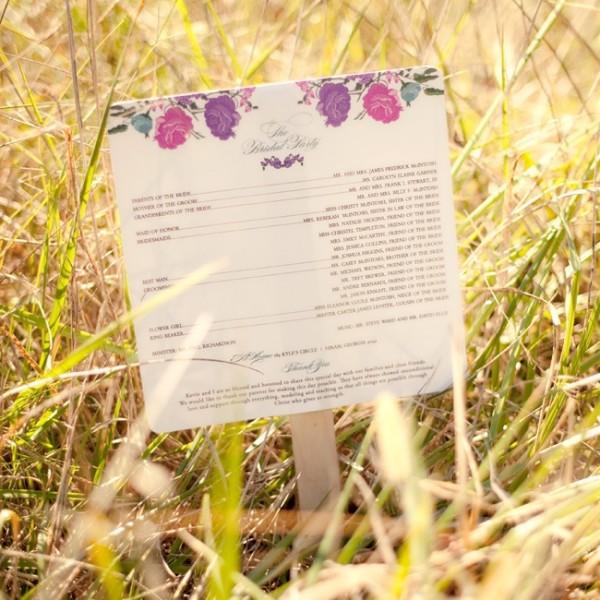 idees mariage rose violet blanc carte florale programme Mademoiselle Cereza blog mariage