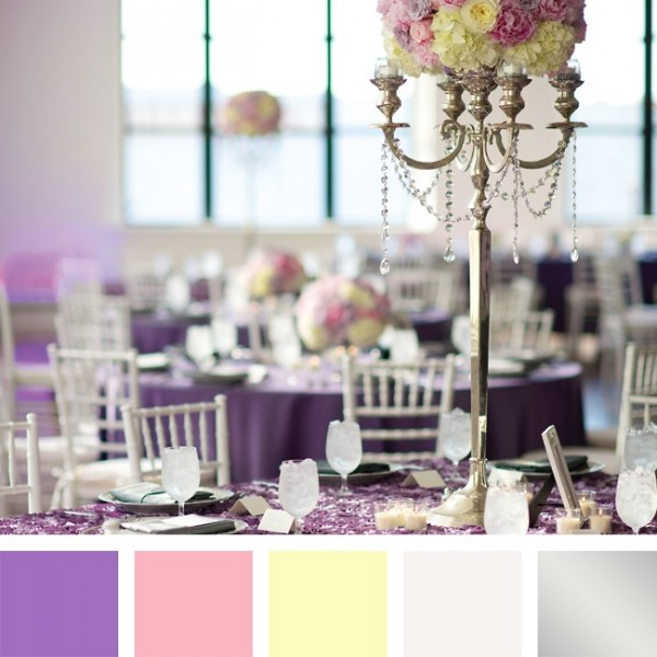 idees mariage rose violet blanc decoration table Mademoiselle Cereza blog mariage